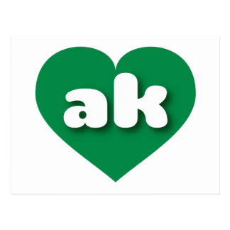 Alaska green heart - mini love postcard