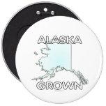 Alaska Grown 6 Inch Round Button