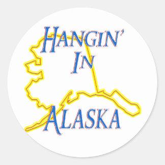 Alaska - Hangin' Classic Round Sticker