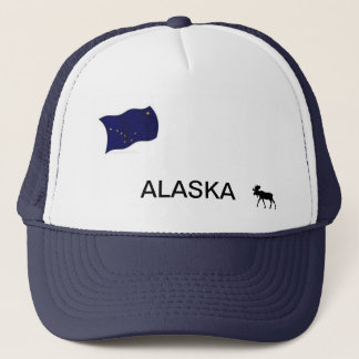 Alaska hat with State flag and moose