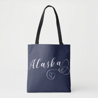 Alaska Heart Grocery Bag, Alaskan Tote Bag