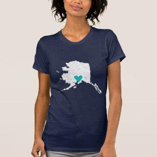 Alaska Heart shirt (white) - Customizable!
