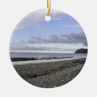 Alaska Heavenly Beaches Ceramic Ornament