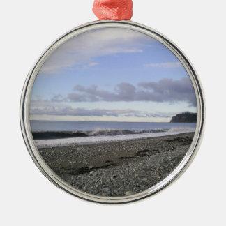Alaska Heavenly Beaches Metal Ornament
