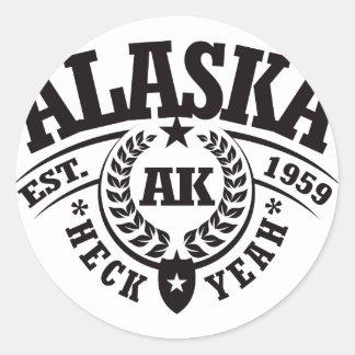Alaska, Heck Yeah, Est. 1959 Classic Round Sticker