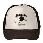 Alaska - helada venido su extremo gorras de camionero