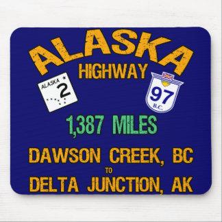 Alaska Highway Mouse Pads