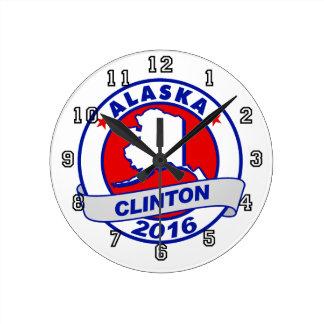 alaska Hillary Clinton 2016.png Round Clock