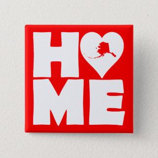 Alaska Home Heart State Button Badge Pin