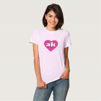 Alaska hot pink heart - mini love tee shirt