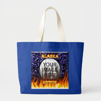 Alaska Hottie fire and flames Blue marble. Bags