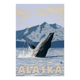 Alaska - Humpback Whale Poster
