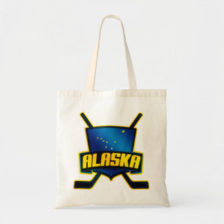 Alaska Ice Hockey Flag Tote Bag