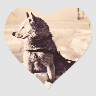 Alaska Iditarod Dog Heart Sticker