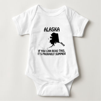 Alaska - If You Can Read This It's Probably Summer Baby Bodysuit