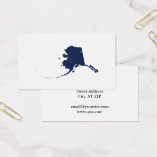 Alaska in Blue and Gold Business Card