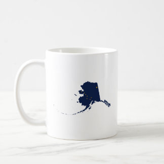 Alaska in Blue and Gold Coffee Mugs
