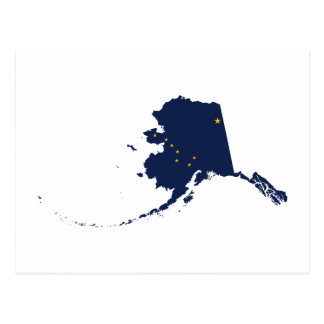 Alaska in Blue and Gold Postcard