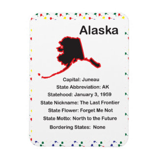 Alaska Information Educational Premium Flexi Magne Magnet