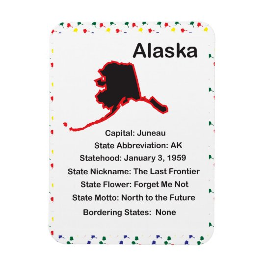 Alaska Information Educational Premium Flexi Magne Magnet