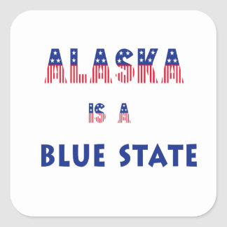 Alaska is a Blue State Square Sticker