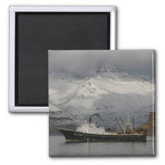 Alaska Juris, F. C. A. trawler in Dutch Harbor, AK Magnet