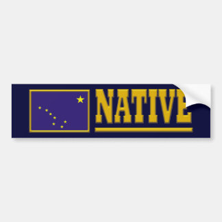Alaska Just Native Bumper Sticker