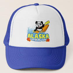 Trucker Hat with Alaska Kayaking Fun design