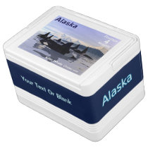 Alaska Killer Whales Stamp Cooler