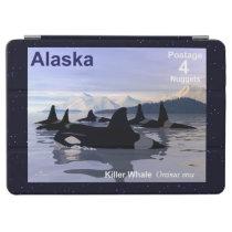 Alaska Killer Whales Stamp iPad Air Cover