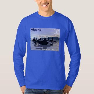 Alaska Killer Whales Stamp Shirt