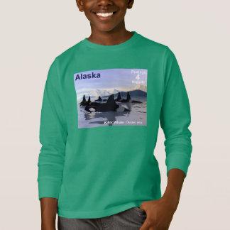 Alaska Killer Whales Stamp T-Shirt
