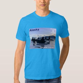 Alaska Killer Whales Stamp T Shirt