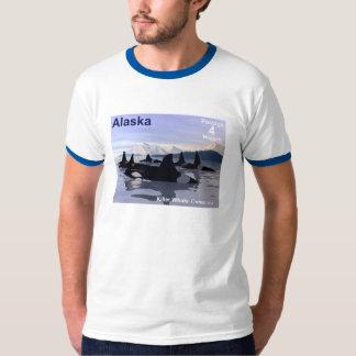 Alaska Killer Whales Stamp Tee Shirt