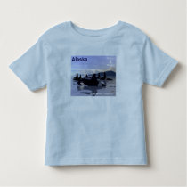 Alaska Killer Whales Stamp Toddler T-shirt