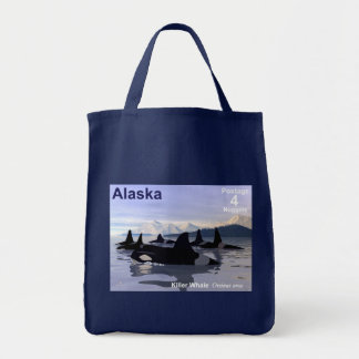 Alaska Killer Whales Stamp Tote Bag