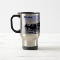 Alaska Killer Whales Stamp Travel Mug