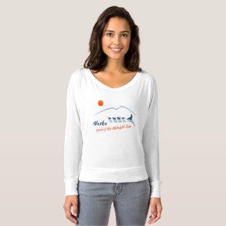 Alaska. Land of the Midnight Sun - Color Logo T-shirt