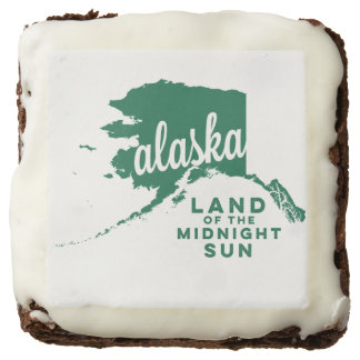 alaska   land of the midnight sun    green chocolate brownie