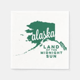 alaska   land of the midnight sun    green napkin
