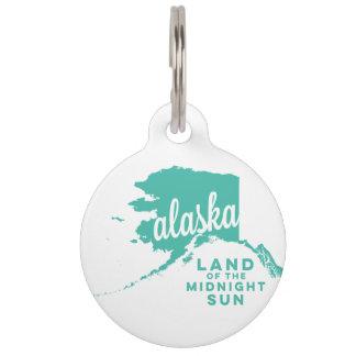 alaska   land of the midnight sun    ice teal pet ID tag