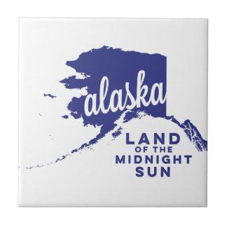 alaska   land of the midnight sun    violet ceramic tile