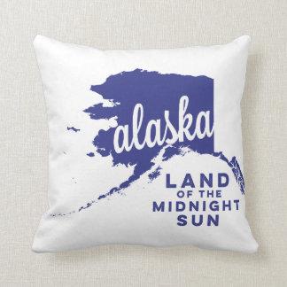 alaska   land of the midnight sun    violet throw pillow