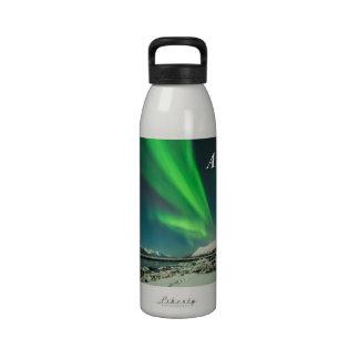 Alaska las subidas de la cortina botella de agua reutilizable