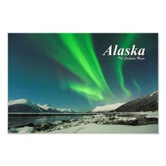 Alaska las subidas de la cortina impresión fotográfica