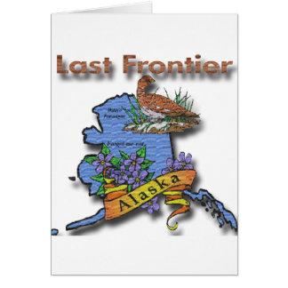 Alaska Last Frontier bird flower Card