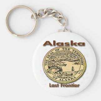 Alaska Last Frontier State Seal Basic Round Button Keychain