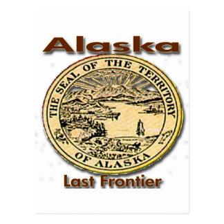 Alaska Last Frontier State Seal Postcard