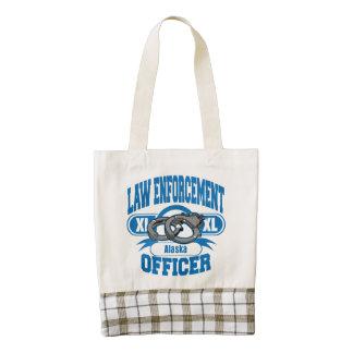 Alaska Law Enforcement Officer Handcuffs Zazzle HEART Tote Bag