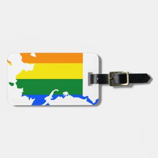 Alaska LGBT Flag Map Bag Tag